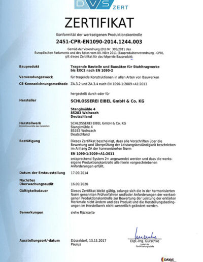 DVS Zertifikat